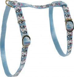 Zolux Szelki nylonowe dla kota Ladycat niebieskie 10mm