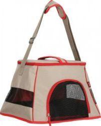 Zolux Torba transportowa dla kota Happy Cat jasnobrązowo-czerwona 44x32x29cm