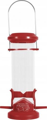 Zolux Karmnik plastikowy SILO 2 żerdki czerwony