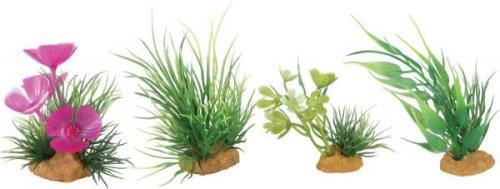 Zolux Dekoracje roślinne mix 4szt. zestaw 1