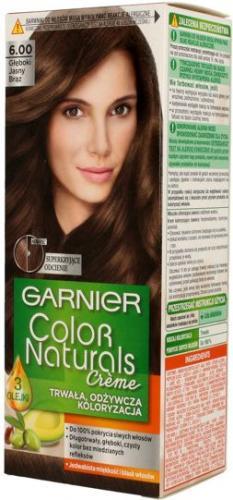 Garnier Color Naturals Krem koloryzujący nr 6.00 Głęboki Jasny Brąz