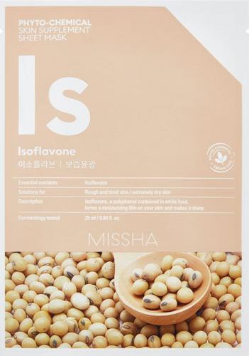 Missha Phyto-Chemical Skin Supplement  Nawilżająca maska w płachcie na twarz Isoflavone 25ml