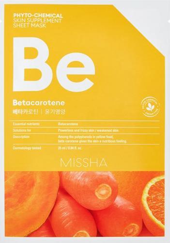 Missha Phyto-Chemical Skin Supplement Odżywcza maska w płachcie na twarz Betacarotene 25ml