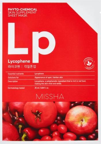 Missha Phyto-Chemical Skin Supplement Rozjaśniająca maska w płachcie Lycophene 25ml