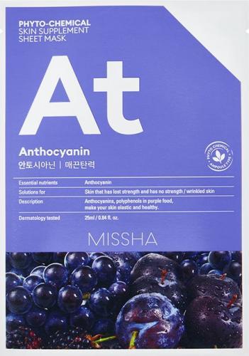 Missha Phyto-Chemical Skin Supplement Ujędrniająca maska w płachcie na twarz Anthocyanin 25ml