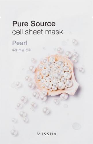 Missha Pure Source Cell Bawełniania maska na twarz Pearl 21g