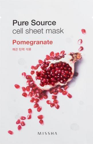 Missha Pure Source Cell Bawełniania maska na twarz Pomegranate 21g