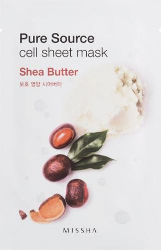 Missha Pure Source Cell Bawełniania maska na twarz Shea Butter 21g