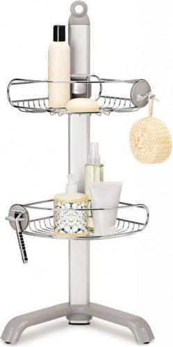 Koszyk prysznicowy Simplehuman narożny chrom (BT1064)