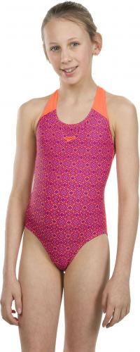 Speedo strój kąpielowy dziewczęcy Allover Splashback różowy r. 164 (807386C593)