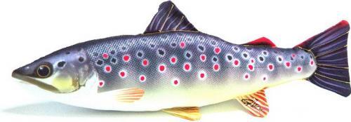 Gaby Poduszka Ryba Pstrąg Potokowy Mini 35cm