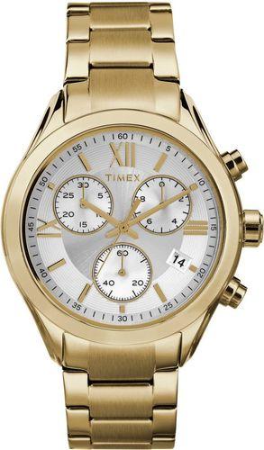 Zegarek Timex Damski  TW2P93700 Chronograf złoty
