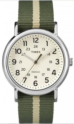 Zegarek Timex Męski TW2P72100 Weekender Indiglo zielony