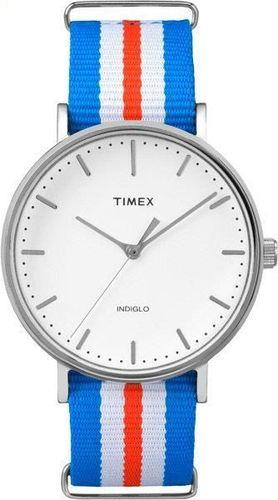 Zegarek Timex Damski TW2P91100 Weekender Fairfield 41 niebieski