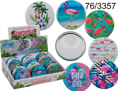 Lusterko kosmetyczne Kemis Kieszonkowe lusterko flamingi