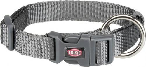 Trixie Obroża Premium grafitowa r. XXS–XS 15–25 cm/10 mm