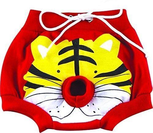 DoggyDolly Spodenki z tygrysem czerwone r. L