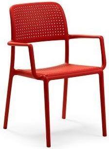 Nardi Krzesło Bora z podłokietnikami czerwone