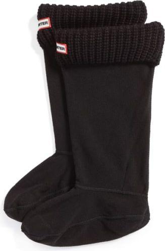 Hunter Ocieplacze do kaloszy Half Cardigan Boot Socks czarne r. L (UAS3004AAC)