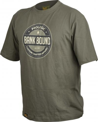 Prologic Bank Bound Badge Tee Green roz. XL (54652)