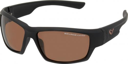 Savage Gear Shades Floating Polarized Sunglasses - Amber (Sun And Clouds) (57573)