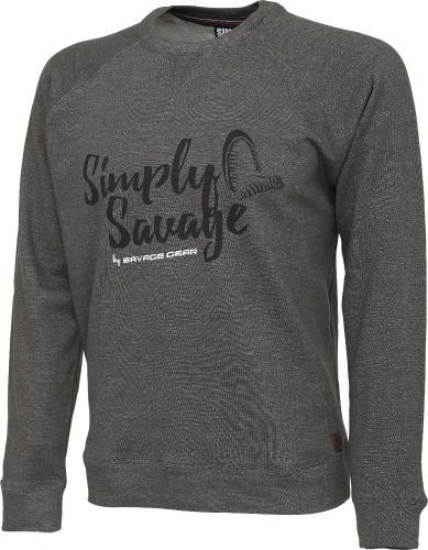 Savage Gear Simply Savage Sweater Melange Grey roz. S (59138)