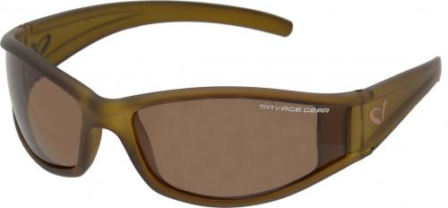 Savage Gear Slim Shades Floating Polarized Sunglasses - Amber (57571)