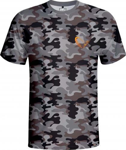 Savage Gear Simply Savage Camo T-shirt roz. L (59135)