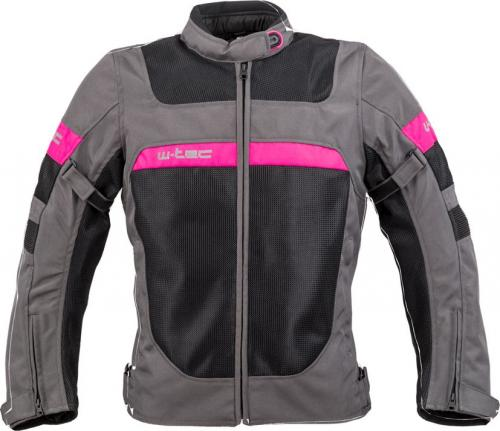 4d1004e493025 W-TEC Kurtka motocyklowa Monaca Black Mesh-Pink r. M