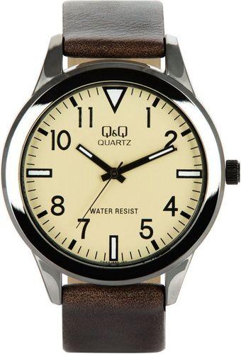 Zegarek Q&Q Męski QA52-503 brązowy