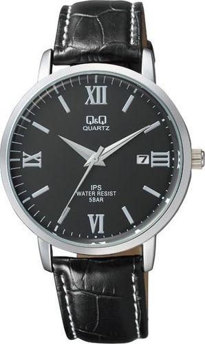 Zegarek Q&Q Męski Klasyczny QZ06-308 z datownikiem czarny