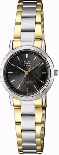 Zegarek Q&Q Damski Klasyczny QA39-402 srebrno-złoty