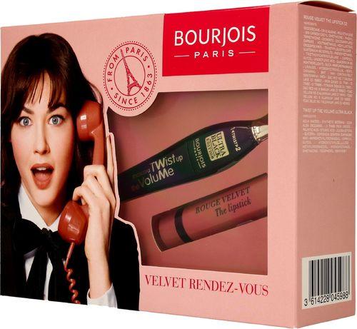 BOURJOIS Paris Bourjois Zestaw prezentowy Velvet Rendez-Vous (maskara Twist Up The Volume 8ml+pomadka Rouge Velvet nr 02)