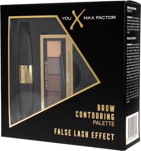 MAX FACTOR Max Factor Zestaw prezentowy (paletka do brwi 1.8g+mascara False Lash Effect 9ml)