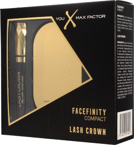 MAX FACTOR Max Factor Zestaw prezentowy (puder kompaktowy Facefinity nr 002 10g+mascara Lash Crown 6.5ml)