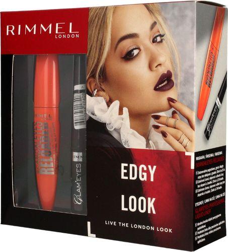 Rimmel  Rimmel Zestaw prezentowy Edgy Look (mascara Scandaleyes Reloaded 12ml+eyeliner Glam'eyes 3.5ml)