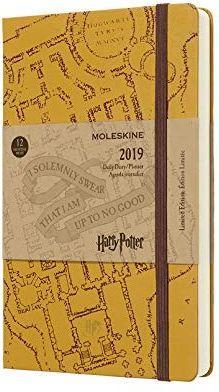 MOLESKINE Kalendarz 2019 dzienny 12ML beżowy Harry Potter