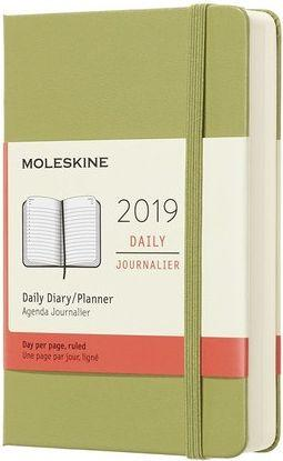 MOLESKINE Kalendarz 2019 dzienny 12MP twardy lichen green