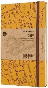 MOLESKINE Kalendarz 2019 tygodniowy 12ML twardy beżowy Harry Potter
