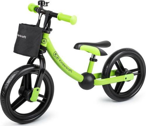 KinderKraft Rowerek biegowy 2Way Next Green z akcesoriami