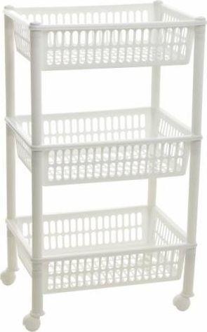Koszyk prysznicowy Plast Team Plastikinė vonios lentyna Plast Team, 3 lentynų