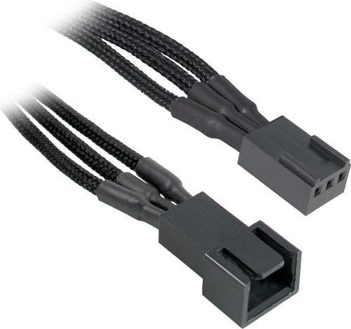 BitFenix Przedłużacz do wentylatorów 3-Pin 60cm - opływowy czarny ( BFA-MSC-3F60KK-RP )