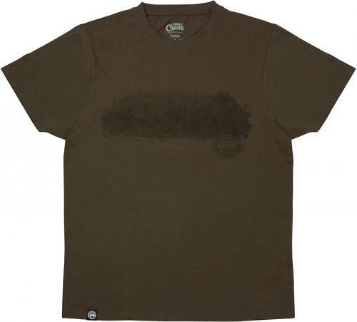 FOX Chunk Dark Khaki Scenic T-shirt - S (CPR957)