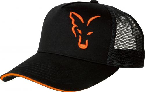 FOX Black/Orange Trucker Cap (CPR924)