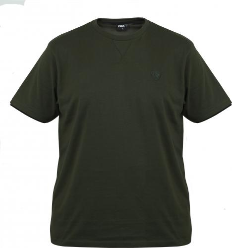 FOX Green / Black Brushed Cotton T-Shirt - roz. S (CPR822)