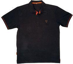 FOX Black / Orange Polo Shirt - Xl (CPR738)