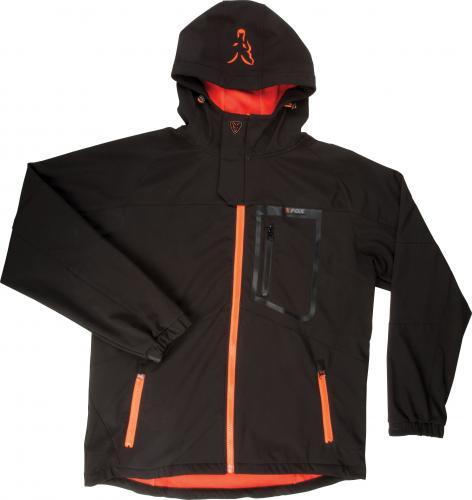 FOX Black / Orange Softshell Jacket - L (CPR695)