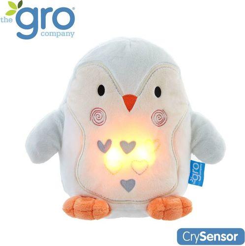 Gro Company Pingwin Percy Szumiąca Przytulanka z czujnikiem płaczu i lampką nocną, Gro Company