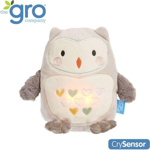 Gro Company Sowa Ollie. Szumiąca Przytulanka z czujnikiem płaczu i lampką nocną