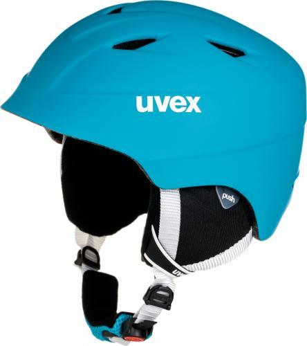 UVEX kask narciarski dziecięcy Airwing 2 pro liteblue-white mat r. 52-54 cm (5661324503)
